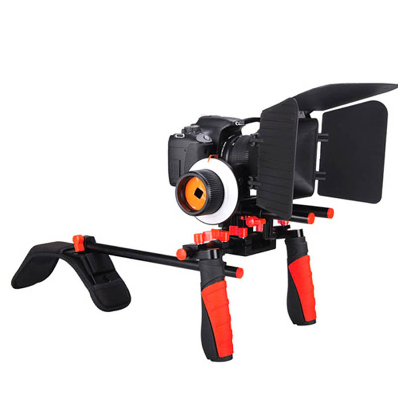 DHL Aputure V2 Camera Shoulder Stabilizer Mountt Rig + Matte Box + Follow Focus For Canon Nikon DSLR  Video Camera DV Camcorder free ship professional new video capture stabilizer bracket shoulder rig for canon nikon dv dslr hd digital camera camcorder
