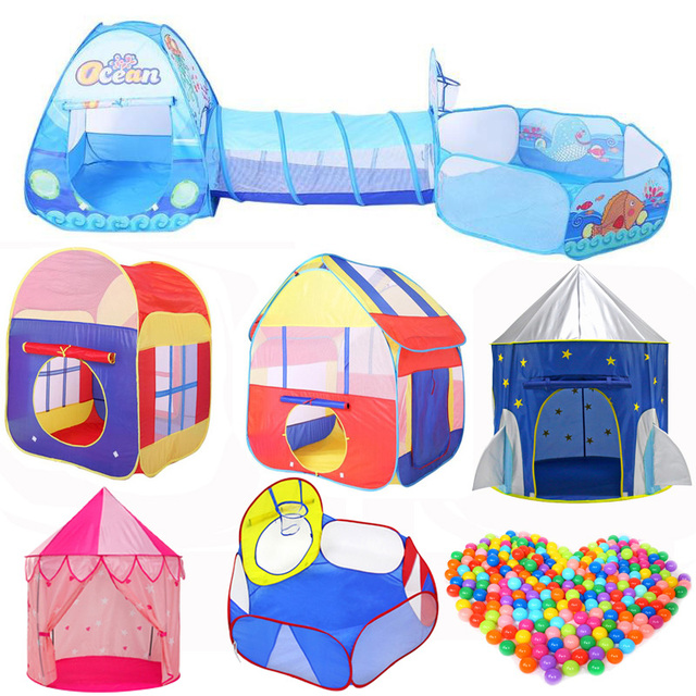 3 in 1 Set Foldable Kids Crawling Tunnel + Play Tents + Baby Ocean Ball Pool Children Game Toys Play House Set  sc 1 st  AliExpress & 3 in 1 Set Foldable Kids Crawling Tunnel + Play Tents + Baby Ocean ...