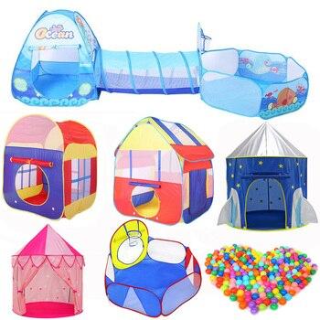 3 in 1 Set Pieghevole di Grandi Dimensioni Piscina Per Bambini Crawling Tunnel + Gioco Tende + Bambino Oceano Piscina di Palline Per Bambini Gioco giocattoli Per Bambini della Casa del Gioco Set
