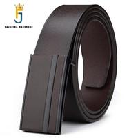 FAJARINA Brand Name Simple Design Men S High Quality Real Cowhide Genuine Leather Belts For Men