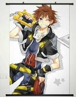 Kingdom Hearts Japan Anime Fabric Wall Scroll Poster
