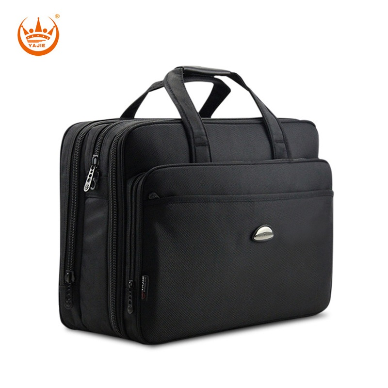 17 Inches business men s briefcase high density oxford waterproof large capacity laptop computer shoulder bag