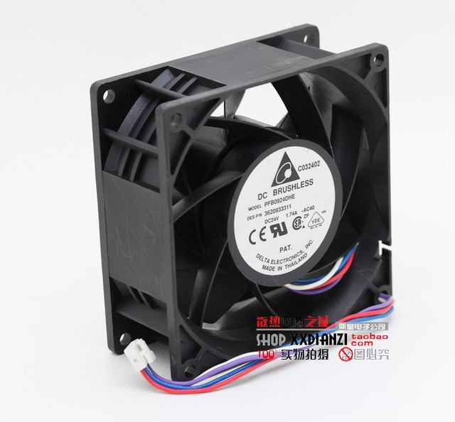 New 9cm PFB0924DHE 9038 1.74A 24V large air volume violent cooling fan