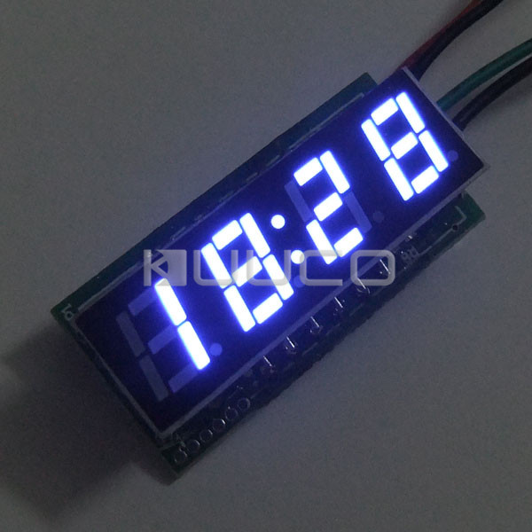 Digital Clock 24 Hours Display Led Panel Meter/Time Meter DC 12V 24V Digital Meter/Car Clock DIY Time Monitor/Tester 24 hour digital clock yellow led display car clock digital meter panel meter adjustable clock dc 12v 24v diy time monitor tester