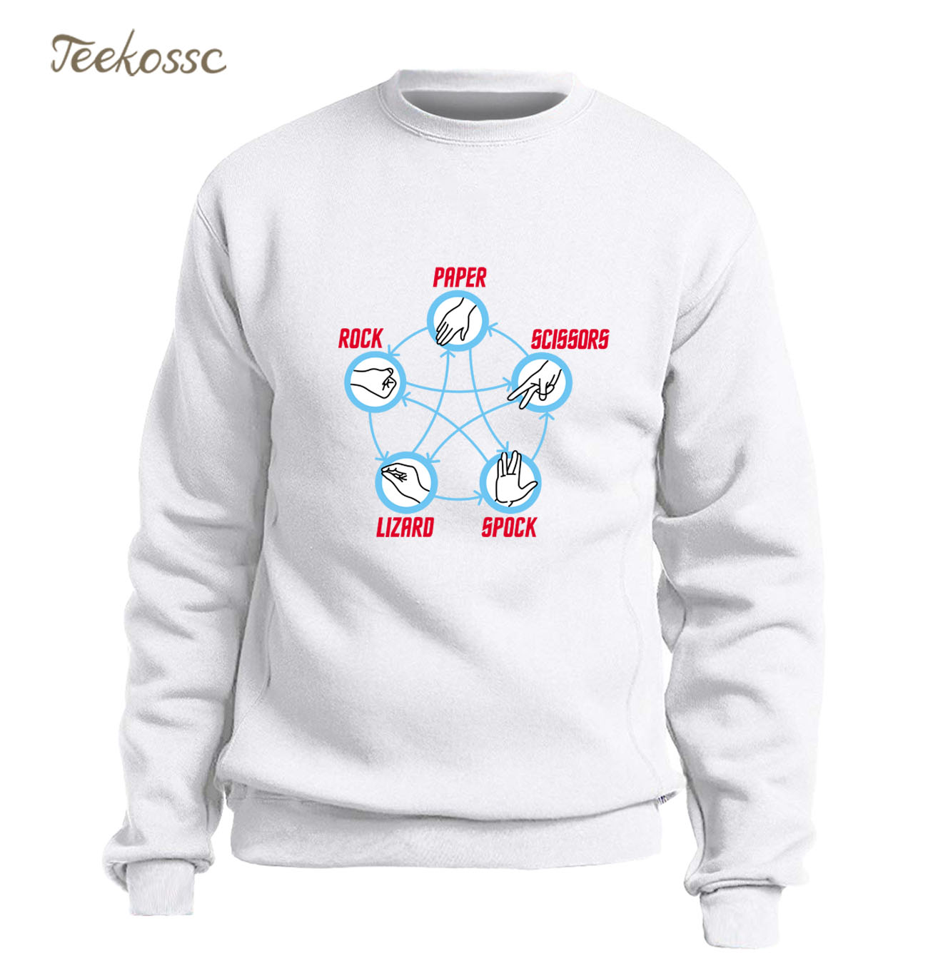 Big Bang Theory Rock Paper Scissors Lizard Spock Hoodie Men Funny Print Sweatshirt Winter Autumn Fleece Warm Slim Fit Sportswear