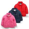 Novo 2015 Outono inverno casacos crianças roupas de bebê outerwear crianças de algodão-acolchoado jacket amor bebê meninas casaco cardigan