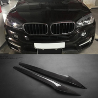 For BMW F15 X5 X5M Carbon Fiber Front Lamp Eyelid Trim Cover 2014 2015 2016 2017