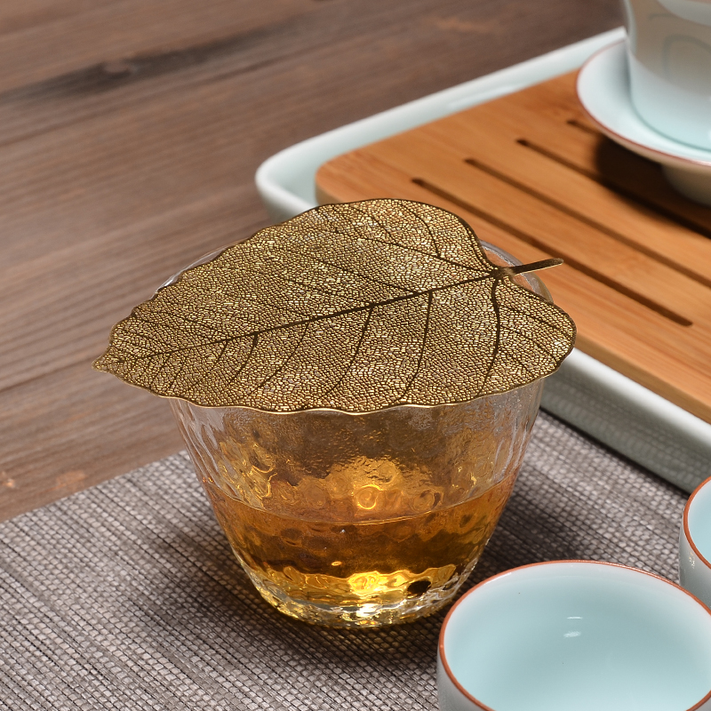 PINNY Bodhi Leaf Tea Filter Copper Leaves Tea Strainers Chinese Kung Fu Tea Accessories Can Effectively Filtrate Tea-leaf