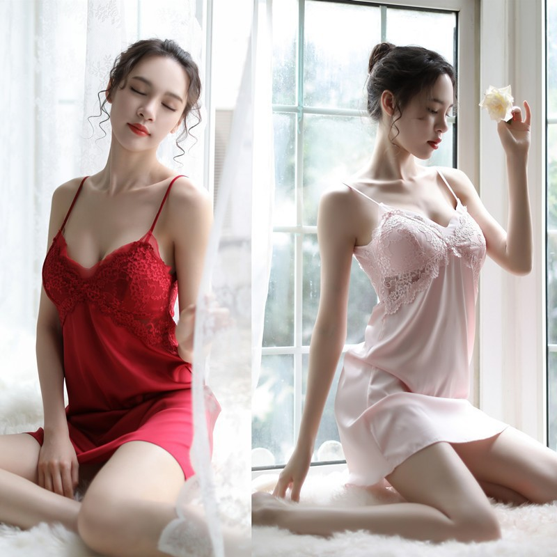 Women Sexy Erotic Lingerie Hot Sexy Babydoll Erotic Strap Pajamas Ice Silk Female Underwear <font><b>Sex</b></font> <font><b>Clothes</b></font> for <font><b>Adult</b></font> Negligee New image
