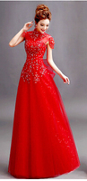 2014 Free Shipping MJ405 Long Evening Dresses Vestido De Gala Longo Com Renda