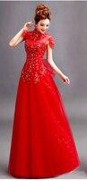 2014 Free Shipping MJ405 Long Evening Dresses Vestido De Gala Longo Com Renda