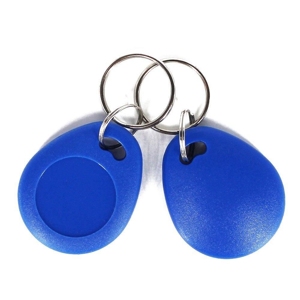 10pcs 13.56MHz Keychains MF 1K RFID ABS Key Fob ISO14443A Smart Key Tag-Blue Color access control key card for home hw v7 020 v2 23 ktag master version k tag hardware v6 070 v2 13 k tag 7 020 ecu programming tool use online no token dhl free