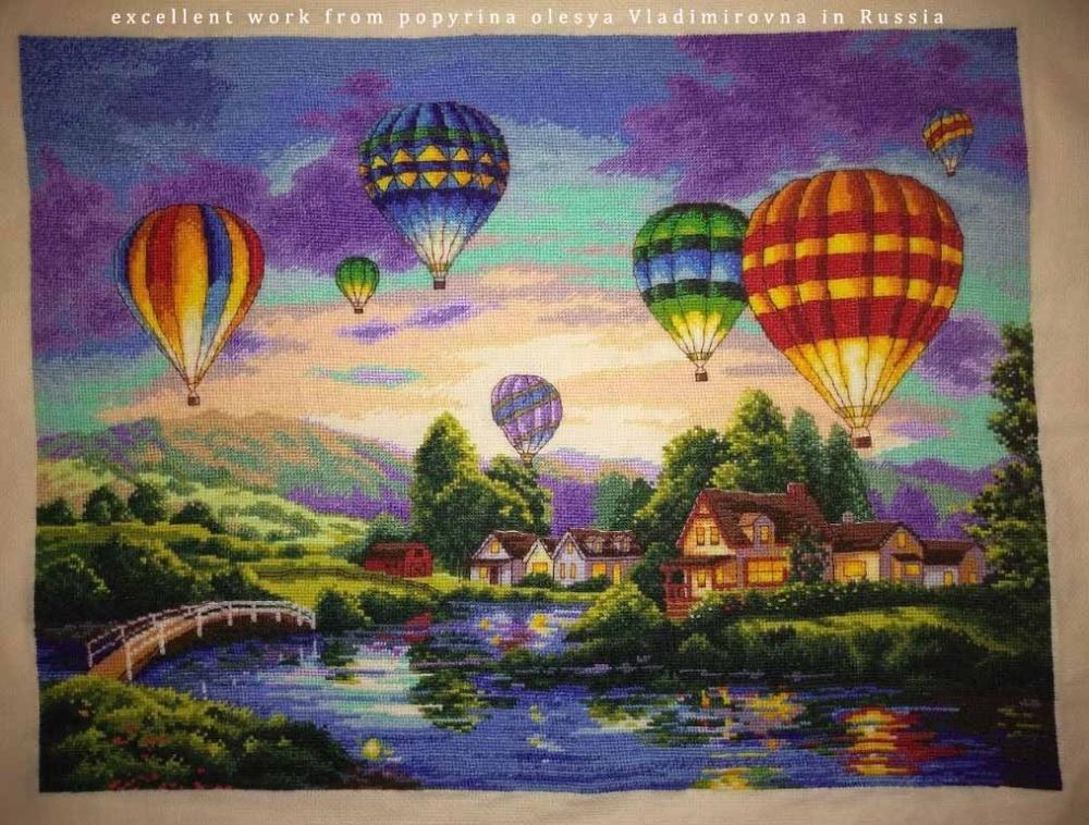 counted cross stitch kit balloon glow balloons dim 35213