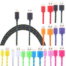 Magnetic Cable Braided LED Type C Micro USB magnetic usb charging cable for Apple iphone X 7 8 6 Xs Max XR Samsung s9 cord(China)