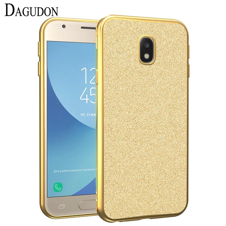 Galleria fotografica DAGUDON Plating Case For Samsung Galaxy J3 2017 Silicon Glitter soft Tpu Back Cover Phone Case For Samsung J3 2017 J330F Eurasia