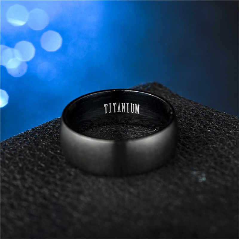 ZORCVENS แฟชั่นแหวนไทเทเนียมสีดำของ Matte สำเร็จรูปคลาสสิกหมั้น Anel เครื่องประดับสำหรับชายงานแต่งงาน