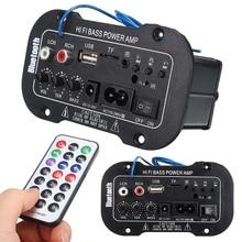 Nuevo Coche Bluetooth HiFi Estéreo Bajo del AMPLIFICADOR De Potencia 220 V Amplificador Digital USB TF Remoto Para Coche Accesorios Para El Hogar