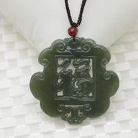 Natural Hetian Stone JADES Pendant Necklace In The Dark Green Blessing Of The Jewelry JADES Jewelry