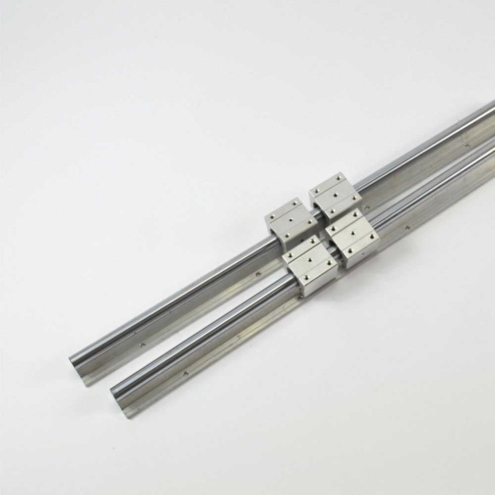 Support Linear Rail 2 SBR12-600mm With 4 Bearing Blocks SBR12UU for CNCSupport Linear Rail 2 SBR12-600mm With 4 Bearing Blocks SBR12UU for CNC