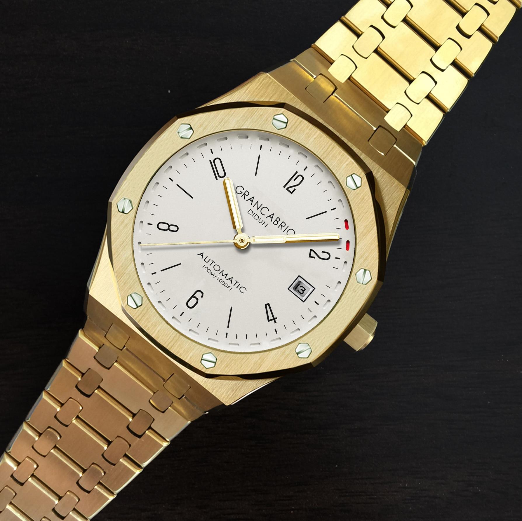 DIDUN hommes Top marque de luxe montres automatiques militaire affaires homme montre bracelet étanche en acier inoxydable bracelet-in Montres sport from Montres    3