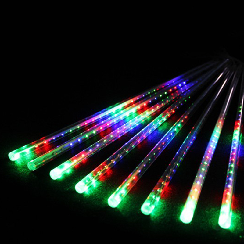 50cm LED Lights Meteor Shower Rain 8Tube Xmas Tree Outdoor Light EU Plug L15