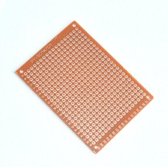 2017 real venda quente novo 10 pces diy protótipo de papel pcb experiência universal placa de circuito matriz 5x7cm
