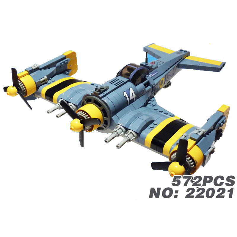 Classic world wars fighter 185-D Propeller aircraft building block model air force figures bricks toys collection for kids gift