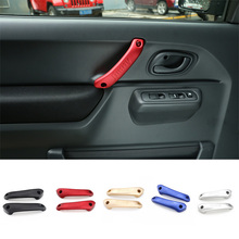 SHINEKA aluminiowe drzwi wewnętrzne uchwyt naklejka na pokrywę nadaje się do akcesoriów samochodowych Suzuki Jimny