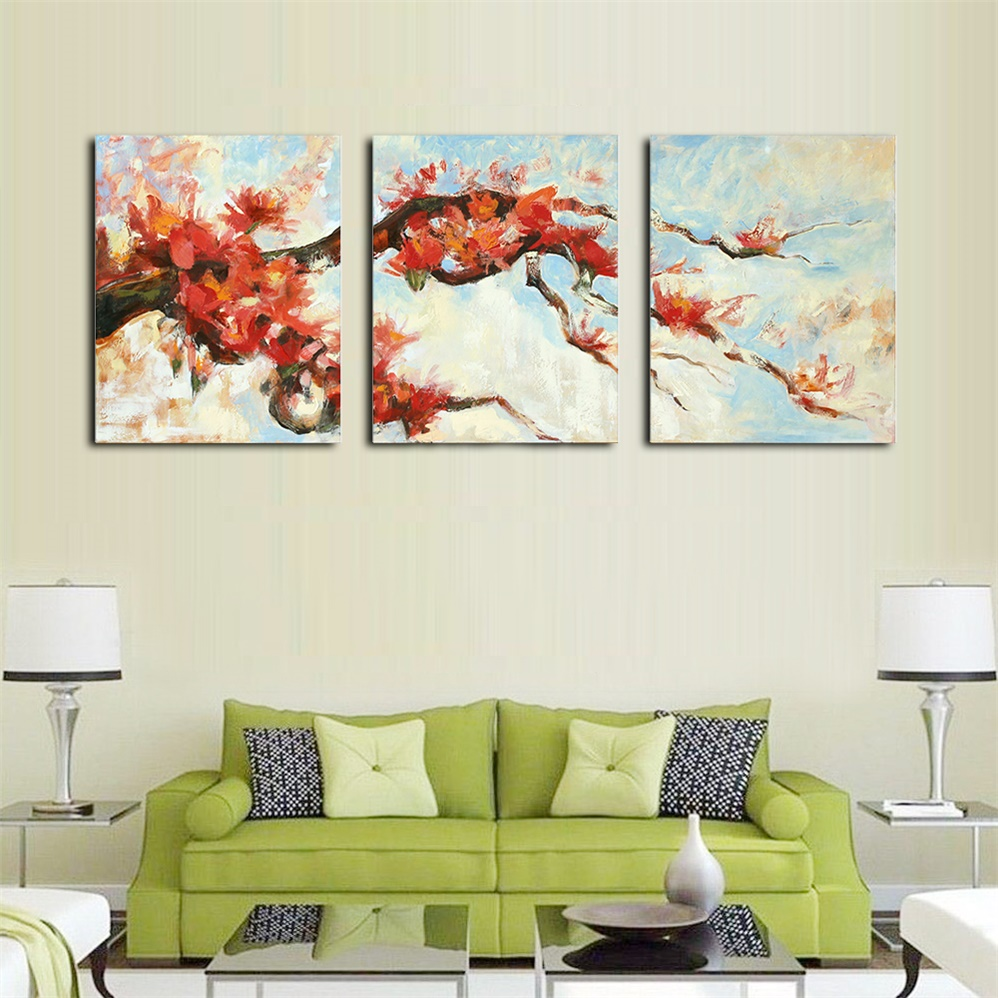 Plum Blossom Watercolor Posters and Prints Wall Art Canvas Painting for Living Room Home Decor Painting on the Wall No Frame in Painting Calligraphy from Home Garden