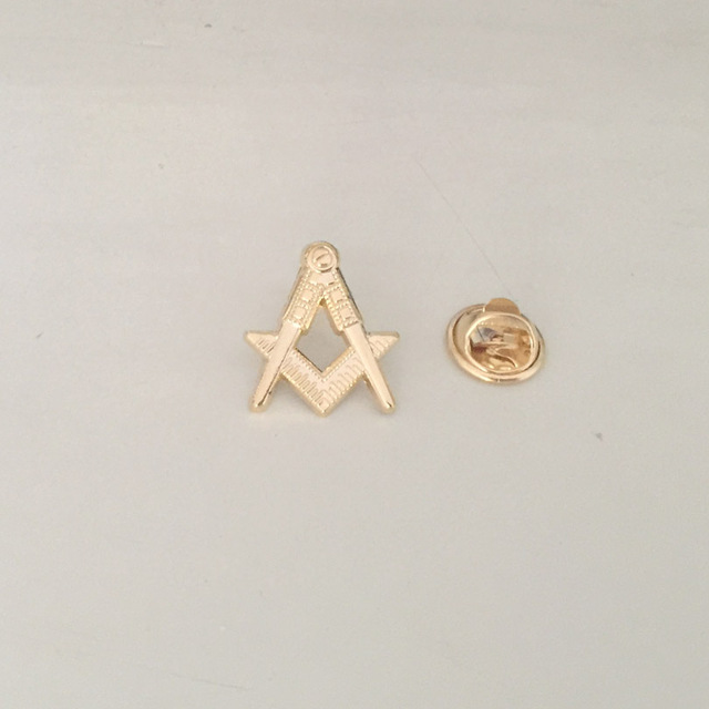 1pc Square and Compass Gold Masonic Lapel Pin Color Pins and Badge Free  Masons Brooch Masonry the Lodge Metal Craft c59e767c3ed3