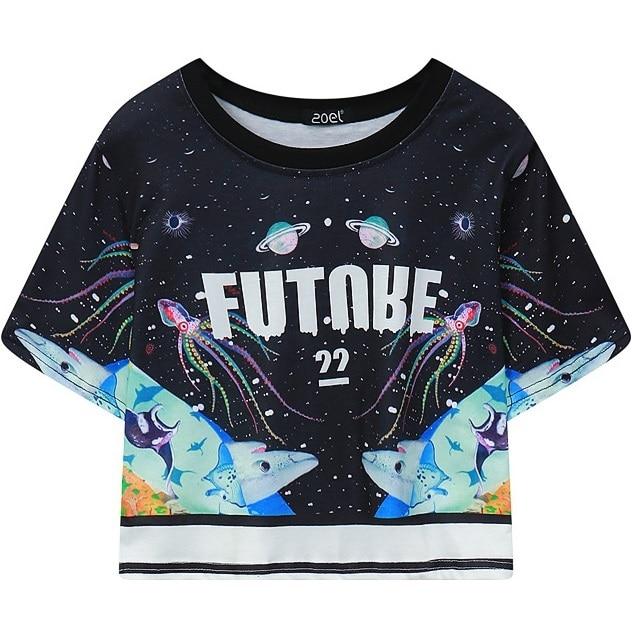 e9e86c6dec84 womens short sleeve crop top 2017 summer new graphic cropped tee tops woman  ladies HARAJUKU t-shirt casual tshirt black T Shirt