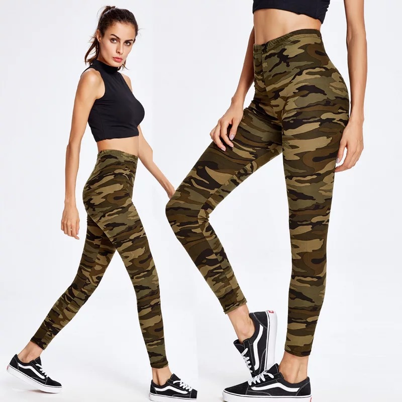 Fashion Womens Leggings Sexy Casual camouflage Leg Warmer Fit Moost Sizes Leggins Pants Trousers Womans Leggings