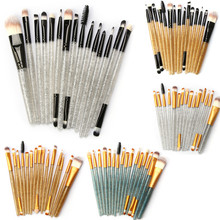 Glitter Makeup Brush Set tools Make-up Toiletry Kit Shiny Brushes Set 15Pcs 3.13