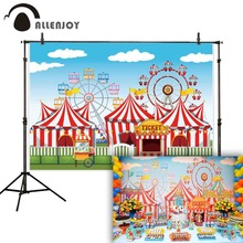 Allenjoy backdrop for photography circus curtain ferris wheel cartoon children photographic backgrounds photocall photophone