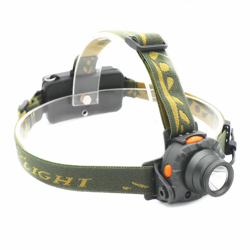 800LM IR Sensor LED faro 100M distancia AAA 18650 batería linterna Camping caza pesca luz blanca antorcha