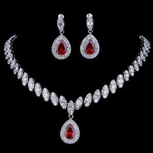 Image 4 - Emmaya Simulierte Brautschmuck Sets Silber Farbe Halskette Sets 4 Farben Hochzeit Schmuck Parure Bijoux Femme
