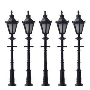 LNH06 10pcs Model Railway Lamppost LED Park Lanterns Street Lamp Model Making Railway HO/OO 6.5cm Free Shipping