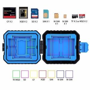 Image 5 - PULUZ 11 in 1 Waterdichte Memory/Sd kaart Case Opbergdoos voor 3SIM + 2XQD + 2CF + 2TF + 2SD Kaart