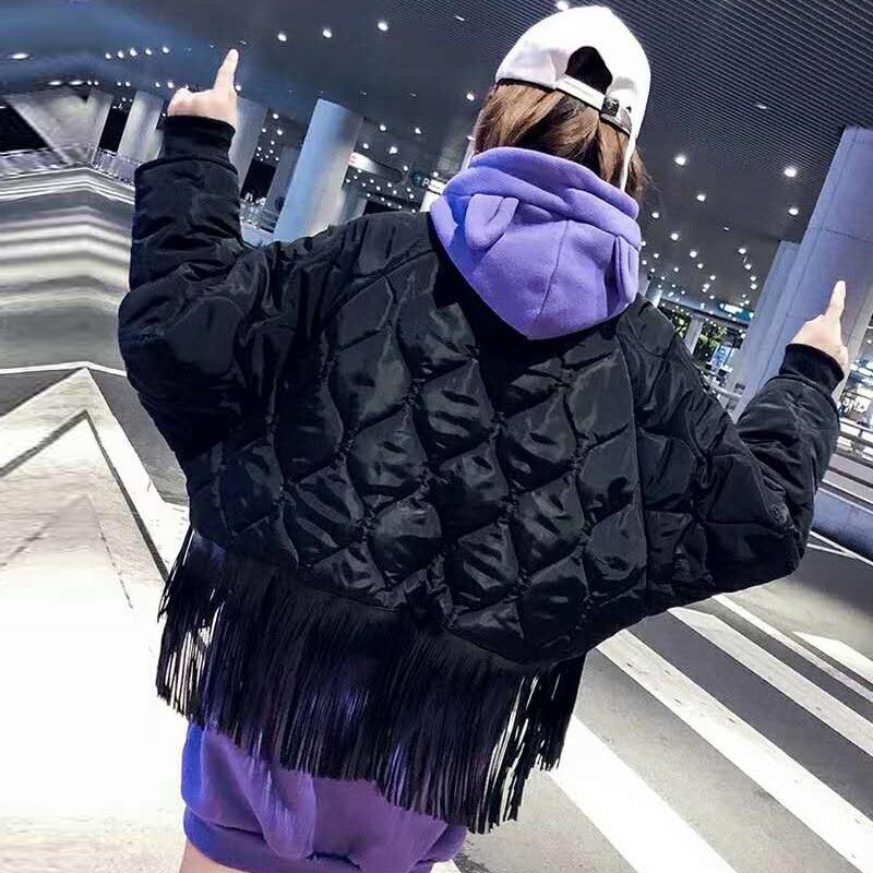 À Vêtements Poupée De Dimensions Gland Courtes Manteau Coton Nouvelle Noir Femmes Femelle 2018 Manches Hiver Trois Lutte Personnalité En Longues 7xPEPZ