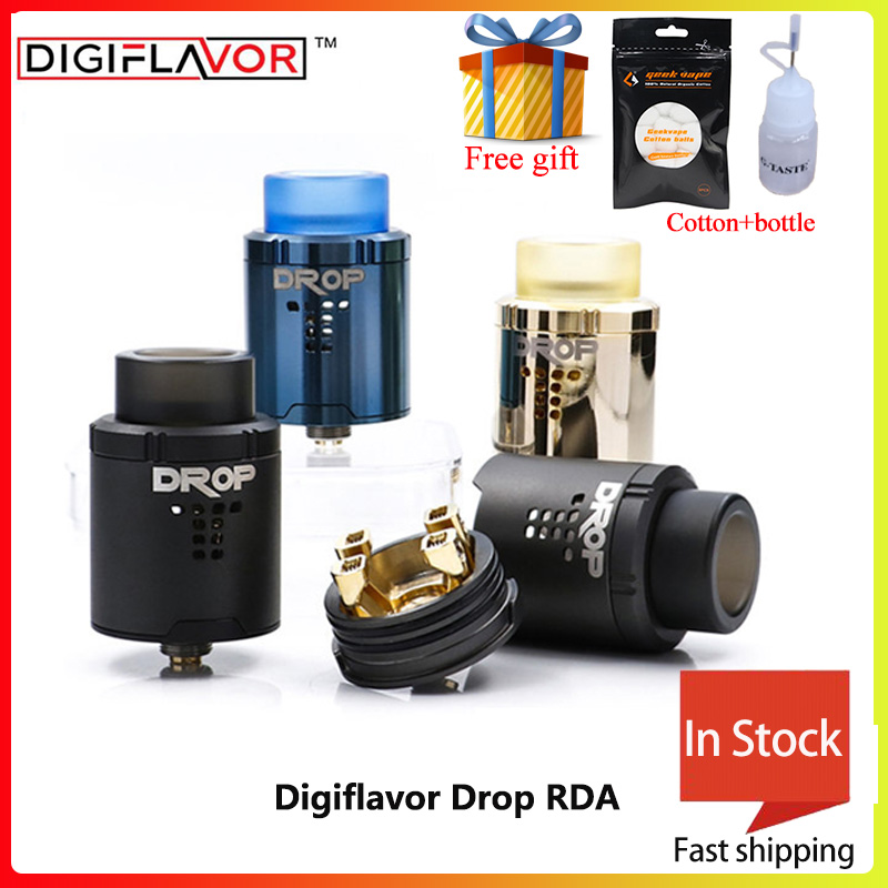 Grande vente digisaveur Drop RDA avec BF squonk 510 broches réservoir de cigarette électronique pk sans égal rda fit voopoo glisser 157w mod