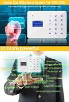 Беспроводной дома охранной сигнализации Системы DIY Kit IOS/Android-смартфон приложение 110dB PIR основной Панель двери/окно Сенсор сигнализация