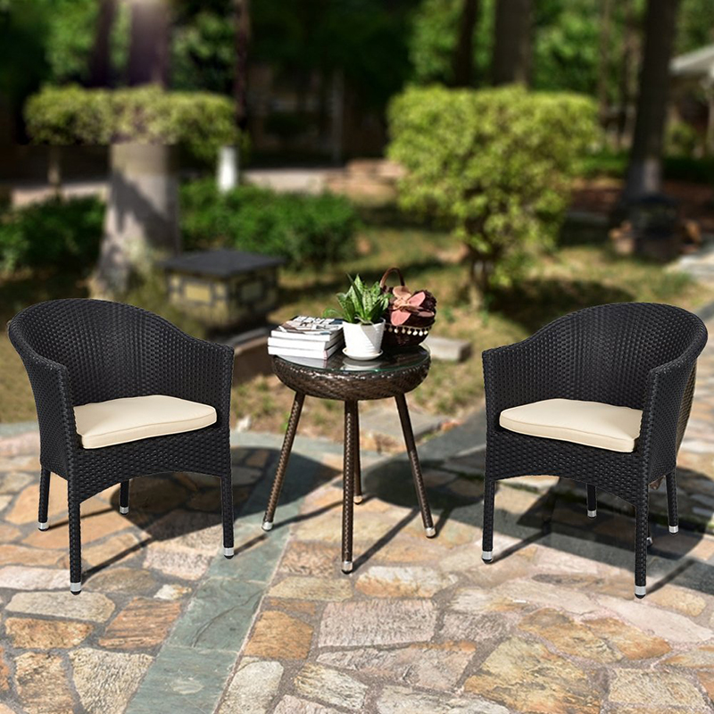 Simple Design Outdoor Patio Garden Furniture Rattan Chair with Cushions,Set of 2 моторное масло motul garden 4t 10w 30 2 л