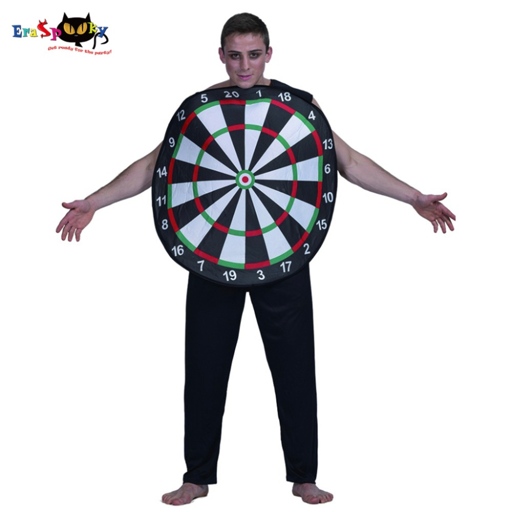 Fashion Original Mens Halloween Costume Big Round Dart Board Game Party Cosplay For Men Adult Halloween Costumes 2017