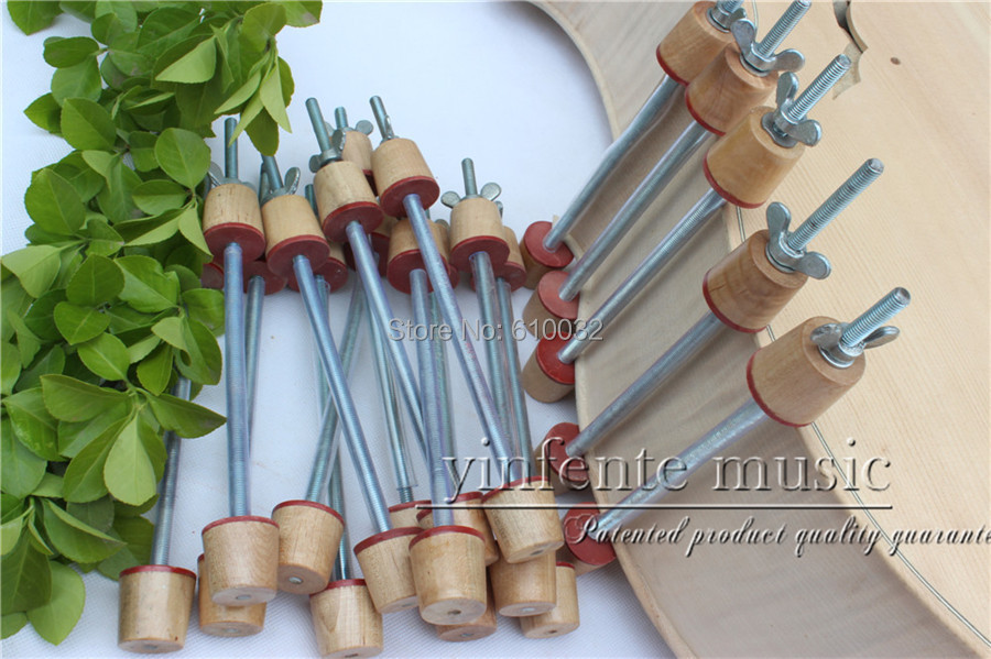цена на New 30 pcs LUTHIER TOOL Upright cello clamp fix top back Tools