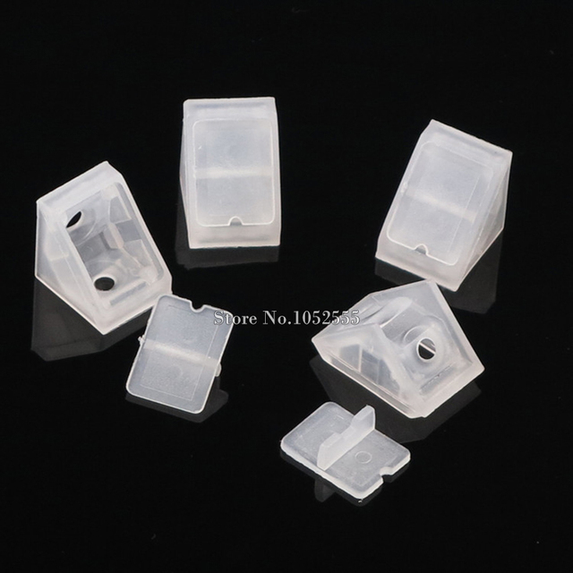 100pcs 90 Degree Angle Hole Nylon Plastic Corner Bracket