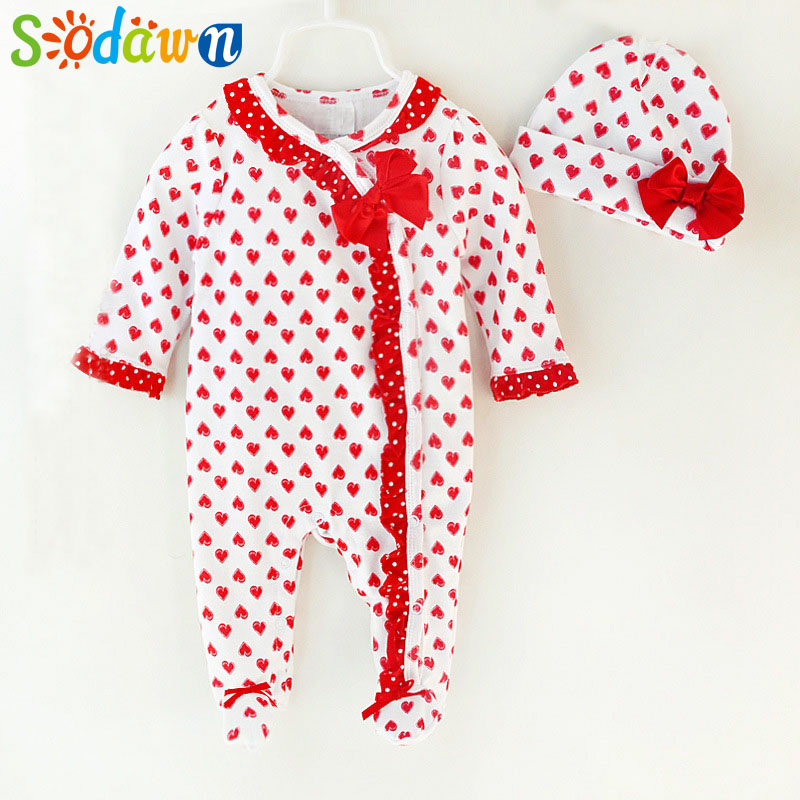 Sodawn Brand Baby Girls Body suits Kids Cotton Rompers Newborn Baby Clothes Good Quality Bebe Jumpsuits Princess Item 0-9M baby rompers newborn clothes baby clothing set boys girls brand new 100%cotton jumpsuits short sleeve overalls coveralls bebe