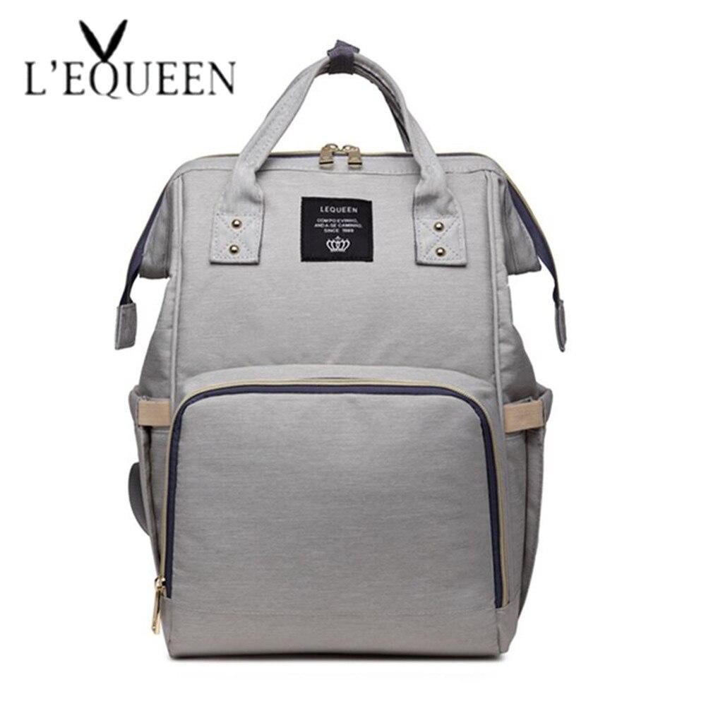 Lequeen bolsas de pañales momia maternidad bolsa de gran capacidad bolso de bebé de moda mochila de viaje de cuidado del bebé