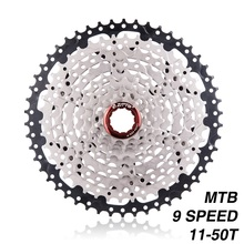 MTB Mountain Bike 9 Speed Cassette 11-50T Wide Ratio Bicycle Freewheel 9S Compatible with Shimano M430 M4000 M590 Bike Freewheel shimano acera rd m3000 alivio m4000 m2000 sgs mountain bike bicycle rear derailleur 9 speed original