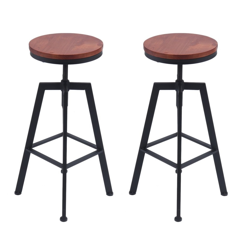 chair stool retro wheelchair clipart industrial bar vintage pub cafe rotating round universal metal adjustable height swivel barstool