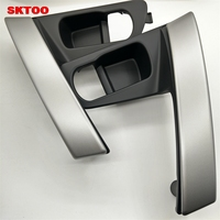 SKTOO Car Door Handle Base Internal Handle Silver Handle Cover for Nissan QASHQAI J10 2007 2008 2009 2010 2011 2012 2013 2014